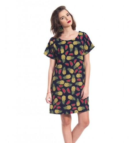 שמלת אוברסייז פירות