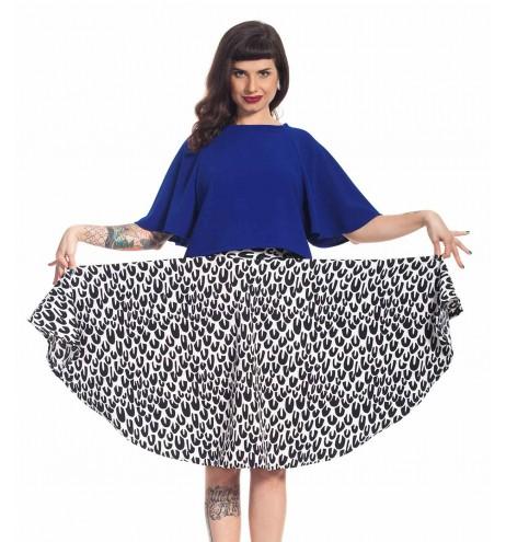 חצאית לולו שחור לבן