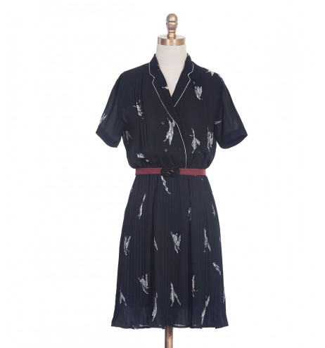 שמלת וינטג' נוצות ברוח
