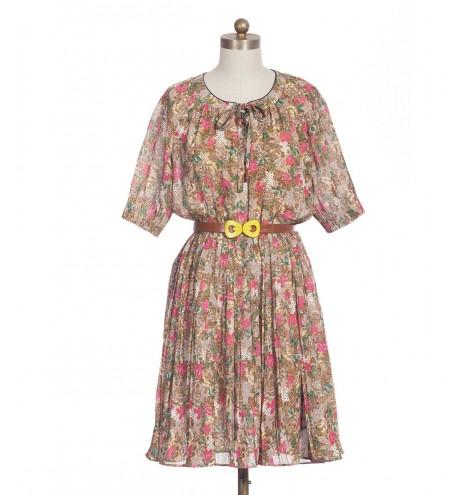 שמלת וינטג' פריחה חורפית