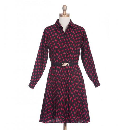 שמלת וינטג'  עלי פוקסיה