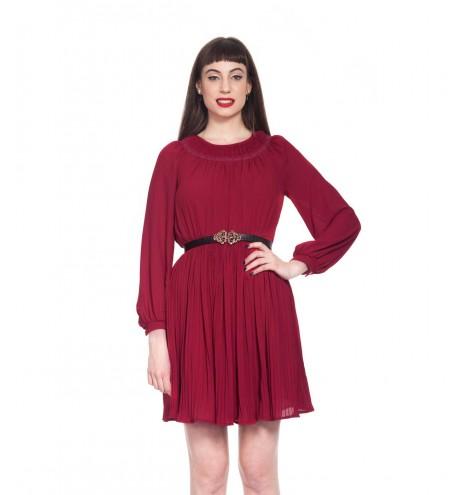 שמלת וינטג' בורדו יין