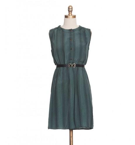 שמלת וינטג' טורקיז וזהב