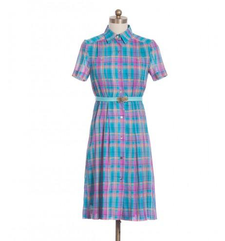 שמלת וינטג' סרגלים
