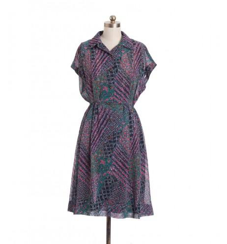 שמלת וינטג' פריחת חורף
