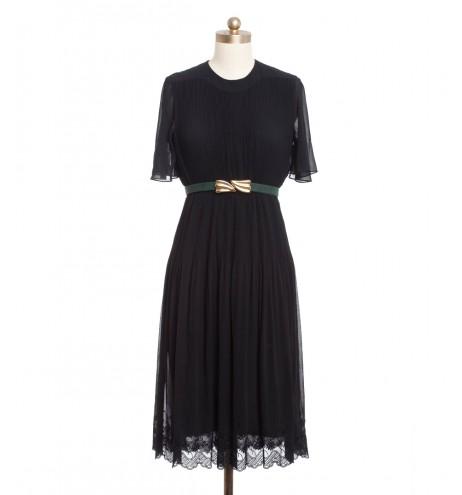 שמלת וינטג' שולי תחרה