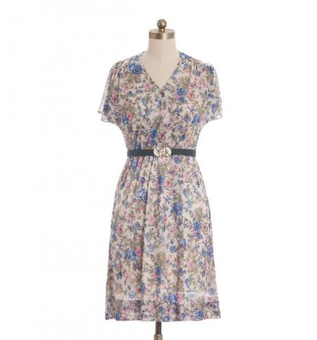 שמלת וינטג' מעטפת פרחונית