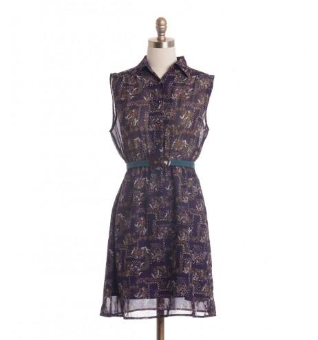 שמלת וינטג' פסיפס