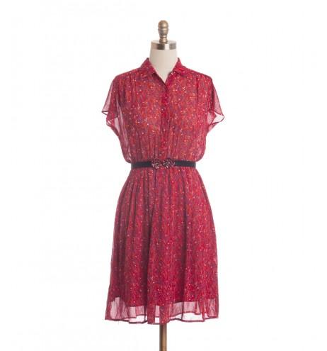 שמלת וינטג' שיבולים