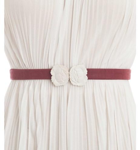 חגורת וינטג' שושן לבן