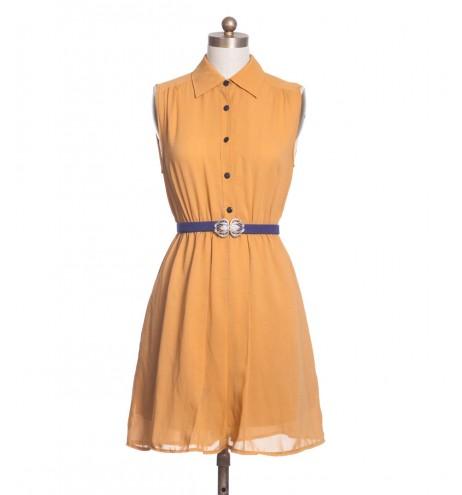שמלת וינטג' נקודות סגולות