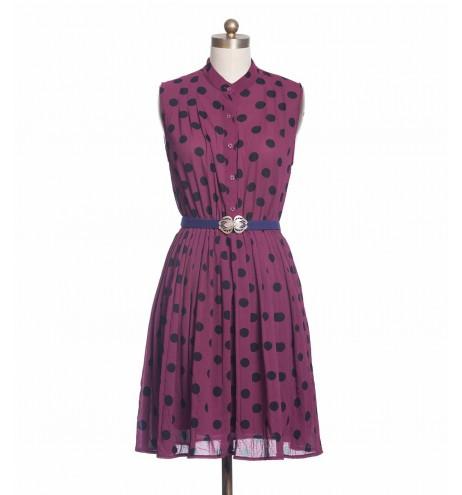שמלת וינטג' עיגולים