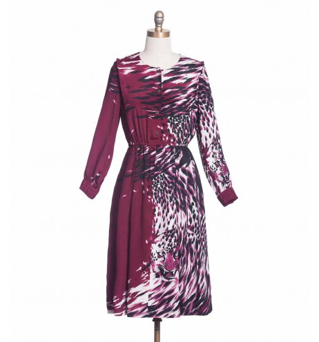 שמלת וינטג' צ'יטה ורודה