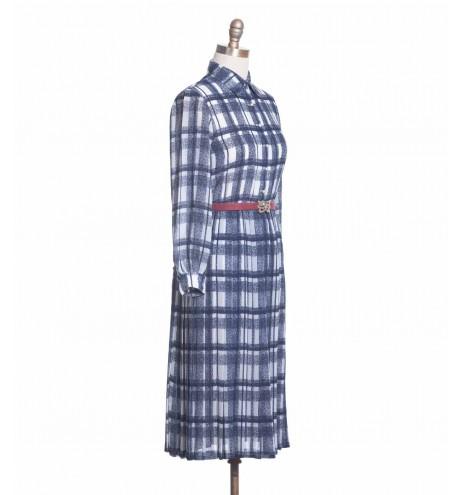 שמלת וינטג' כחול לבן