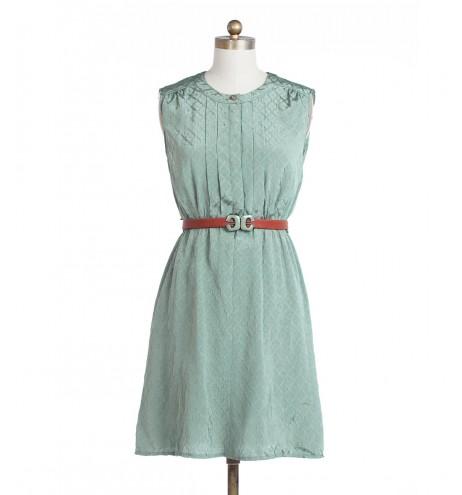 שמלת וינטג' ירקרקה
