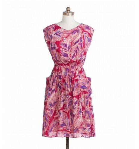 שמלת וינטג' נוצות