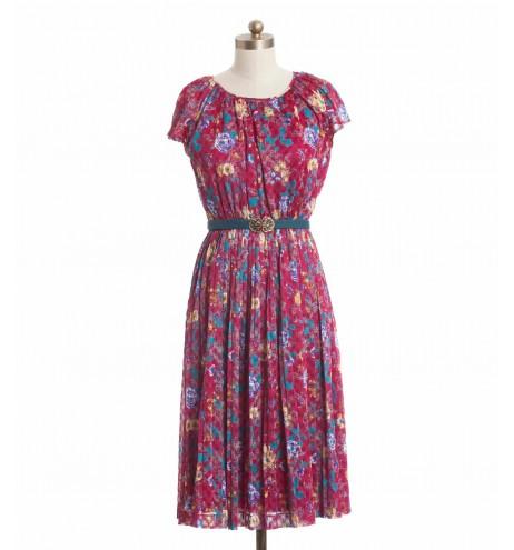 שמלת וינטג' פוקסיה
