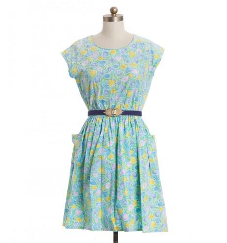 שמלת וינטג' פרחי קיץ
