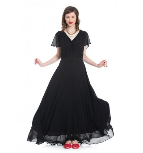 שמלת פריסילה שחור