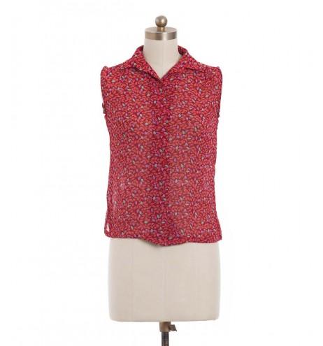 חולצת וינטג' שלכת אדומה
