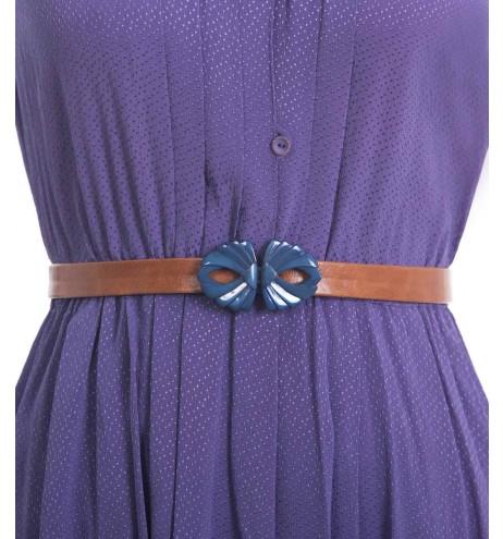 חגורת וינטג' מניפה כחולה