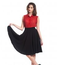 חצאית לולו שחורה