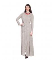 שמלת רייצ'ל שמנת קווים