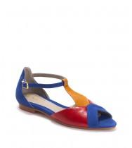 נעלי דריה כחול- אדום- קרמל