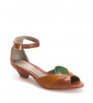 נעלי סהרה חום- ירוק- קרמל