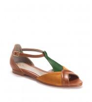 נעלי דריה חום- ירוק- קרמל