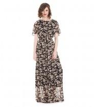 שמלת מוזמביק שחור מנומר