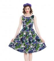 שמלת ספארי הדפס ג'ונגל