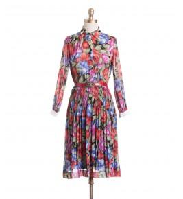 שמלת וינטג' פריחת היביסקוס