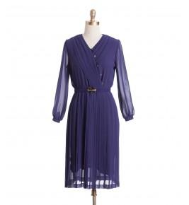 שמלת וינטג' מעטפת סגולה