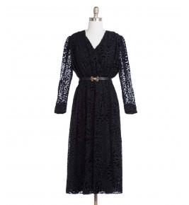 שמלת וינטג' עלי קטיפה