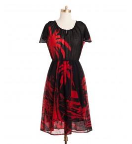 שמלת וינטג' דקלים
