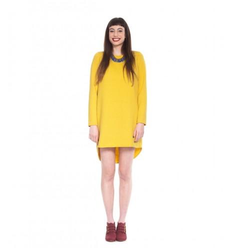 שמלת סווטשירט חרדל