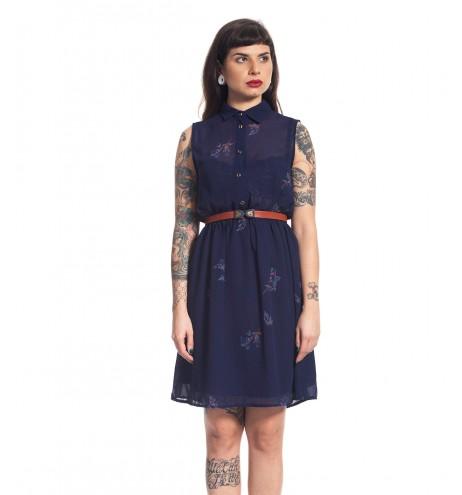 שמלת וינטג' ציור חורפי