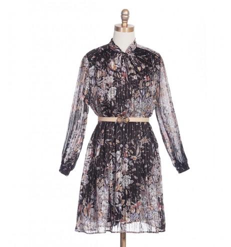 שמלת וינטג' חוטי זהב
