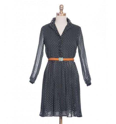 שמלת וינטג' צווארון מלכותי