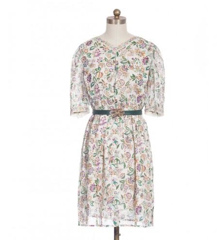 שמלת וינטג' פרחים עדינים
