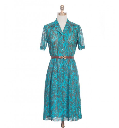 שמלת וינטג' ענפים
