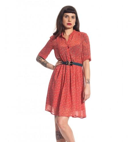 שמלת וינטג' אדמדמה
