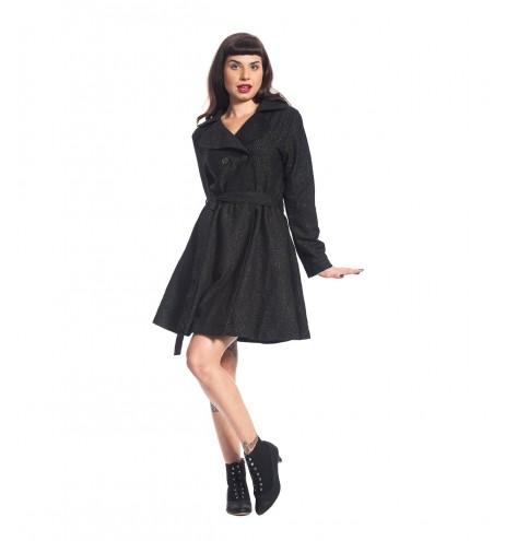 מעיל מיאו שחור מנצנץ