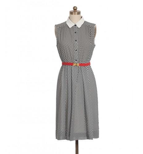 שמלת וינטג' אלכסון