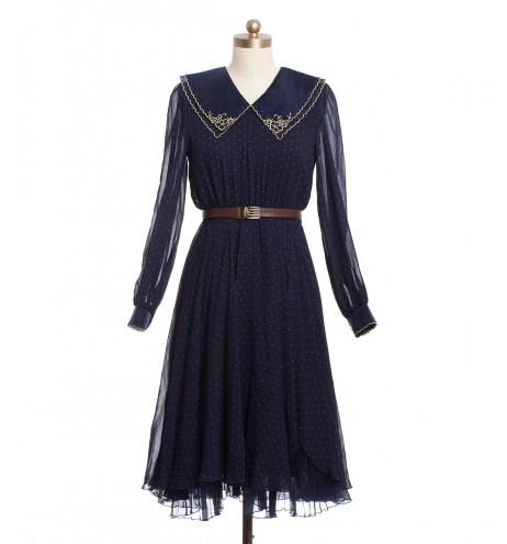שמלת וינטג' פרח זהוב
