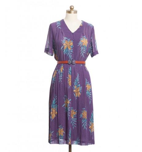 שמלת וינטג' שלכת סגולה