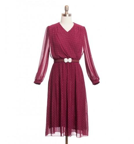 שמלת וינטג' חוטים מנצנצים