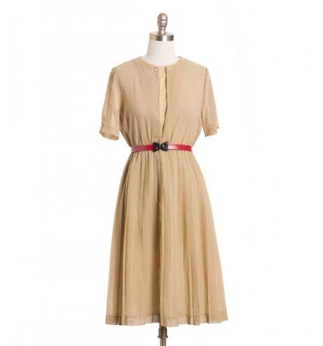 שמלת וינטג' חול