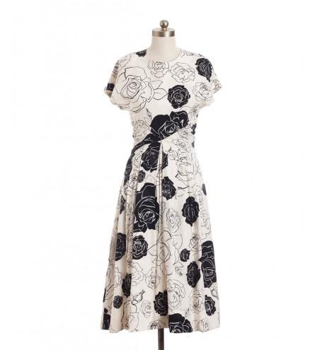 שמלת וינטג' שושנים